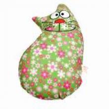 """Игрушка антистресс """"Зеленый кот в цветах"""""""