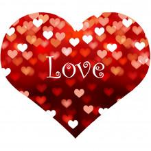 "Подушка антистресс ""Сердце LOVE"", 45 см"