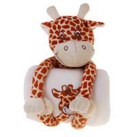Подарочный набор игрушка жирафик с пледом