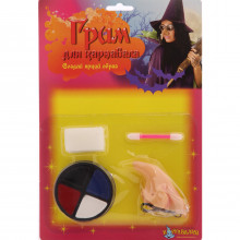 Грим ведьмы для карнавала, 4 цвета, нос