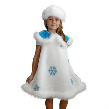 Костюм снежинки с мехом для девочки