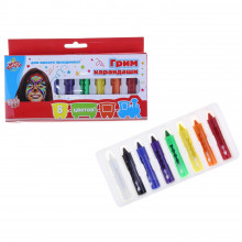 Грим карандаши для лица и тела, набор из 8 цветов