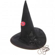 Шляпа ведьмы с бантом и перьями