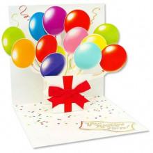 """Объемная открытка """"Воздушные шарики"""""""