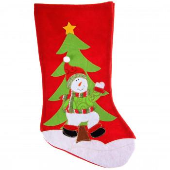 """Новогодний носок для подарков """"Снеговик"""""""