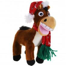 """Мягкая игрушка """"Лошадь в шапке и шарфике"""""""