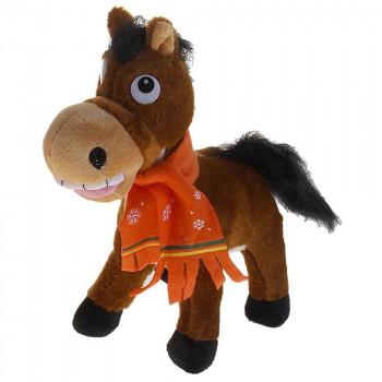 """Мягкая игрушка """"Лошадь в шарфике со снежинками"""""""