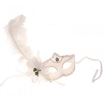 Венецианская маска с большим пером