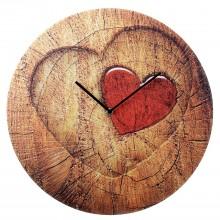 """Часы настенные """"Сердце на срезе дерева"""""""