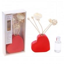 """Набор подарочный ваза """"Пылкое сердце"""" с ароматическим маслом"""