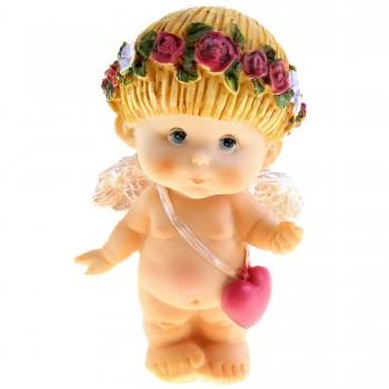 Сувенир ангелочек с сумочкой в виде сердечка