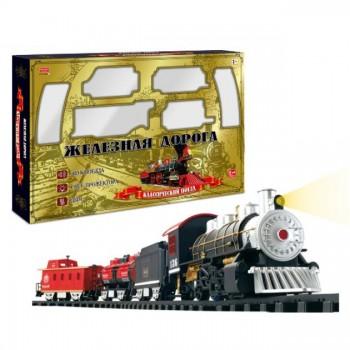 """Детская железная дорога """"Классический поезд"""" с дымом, светом и звуком"""